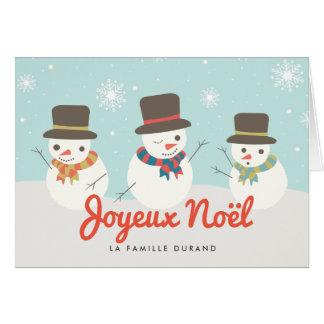 Bonhomme De Neige Carte De Noël