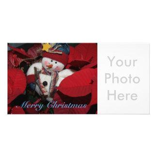 Bonhomme de neige de Joyeux Noël Cartes Avec Photo