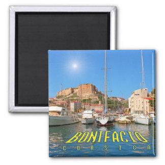 Bonifacio, Korsika, Frankreich Quadratischer Magnet