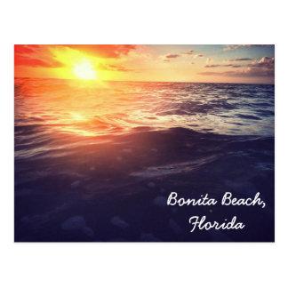 Bonita Strand-Sonnenuntergangpostkarte Postkarte