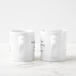 Bonjour beau, beau - tasse mignonne de couples