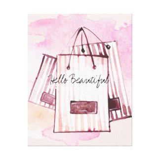 Bonjour belle aquarelle chic de sacs toiles
