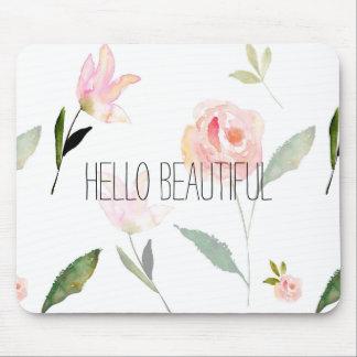 Bonjour belle aquarelle florale tapis de souris