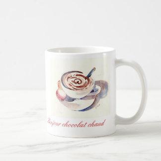 Bonjour chocolat chaud tasse