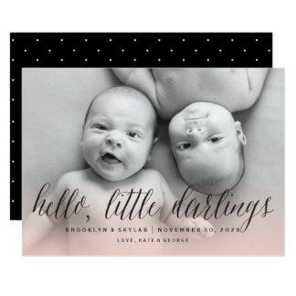 Bonjour petit faire-part de naissance de jumeaux