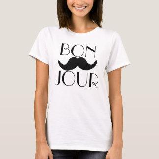 BONJOUR Schnurrbart T-Shirt