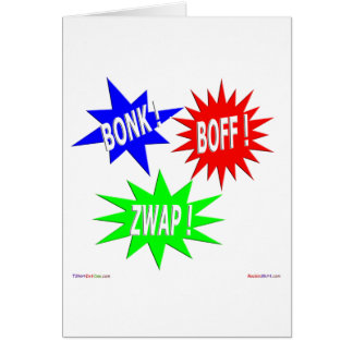 Bonk Boff Zwap Gruß-Karte Karte