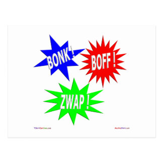 Bonk Boff Zwap Postkarte