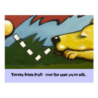 bonk, Teresa Nolen Pratt - Liebe die Tatzen, die Postkarte