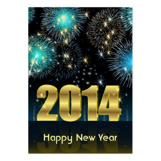 Bonne année 2014 de carte carte de visite grand format