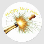 Bonne année autocollants ronds