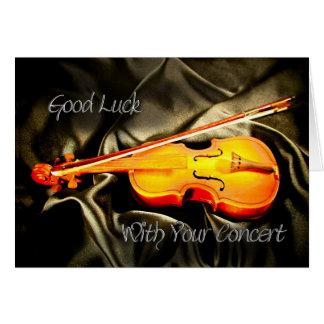 Bonne chance avec votre concert, une carte de