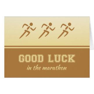 Bonne chance de marathon pour le sportif carte de vœux