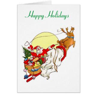 Bonnes fêtes carte de Noël de Sleigh de Père Noël