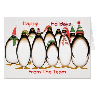 Bonnes fêtes de la carte de Noël d'équipe