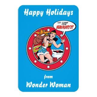 Bonnes fêtes de la femme de merveille carton d'invitation 8,89 cm x 12,70 cm
