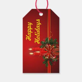 Bonnes fêtes étiquette de cadeau