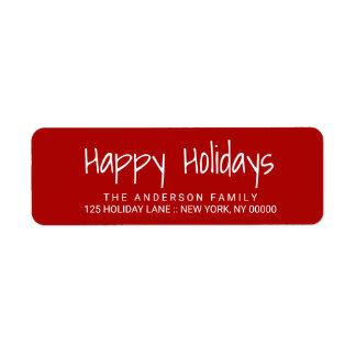 Bonnes fêtes étiquette imprimé à la main mignon de