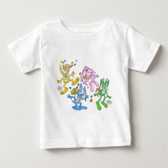 Bonucing bunnies.jpg baby t-shirt