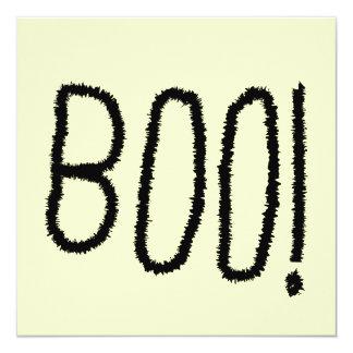 Boo! Gezackte gotische Schriften. Halloween Quadratische 13,3 Cm Einladungskarte