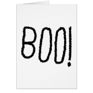 Boo! Gezackte gotische Schriften. Halloween Grußkarte