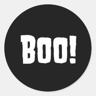Boo! Halloween-Geburtstags-Aufkleber Runder Aufkleber