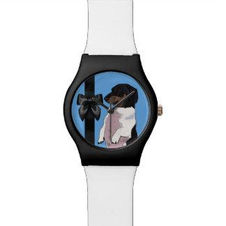 Boogie die Dackel-Uhr Armbanduhr