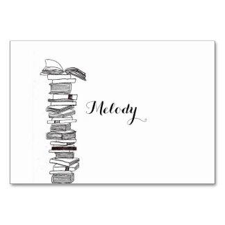 Booklover-Buch-Hochzeits-Tabelle/Platzkarte