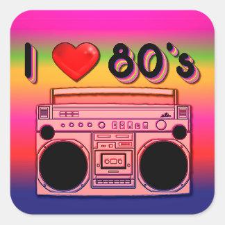 Boombox Achtzigerjahre Retro Aufkleber