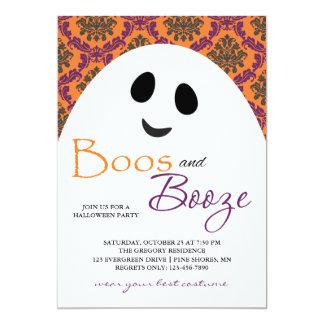 Boos-und Schnaps-Geist-orange Karte