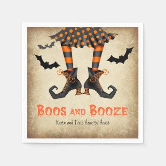 Boos und Schnaps-wunderliches Halloween-Party Papierservietten