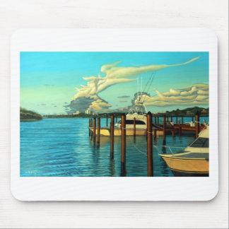 Boot, Ozean, Himmel, Wolke, Meerblick, Ölgemälde Mousepads