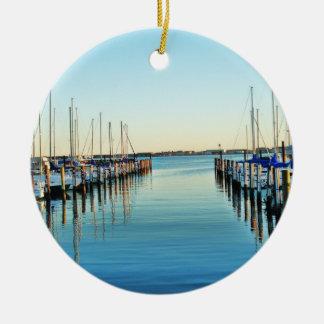 Boote am Jachthafen durch Shirley Taylor Keramik Ornament