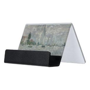 Boote Claude Monets   oder Regatta in Argenteuil Schreibtisch-Visitenkartenhalter