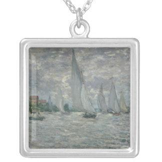 Boote Claude Monets | oder Regatta in Argenteuil Versilberte Kette