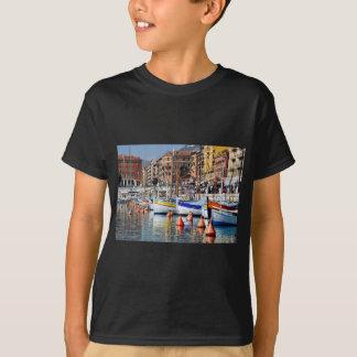 Boote im Hafen von Nizza in Frankreich T-Shirt
