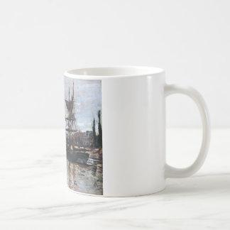 Boote in Rouen durch Claude Monet Kaffeetasse