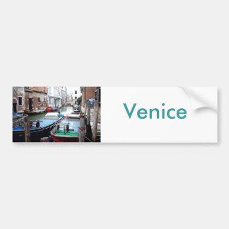 Boote in Venedig Autoaufkleber