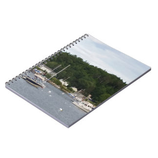 Boothbay Hafen-Boots-Notizbuch (80 Seiten B&W) Notizblock