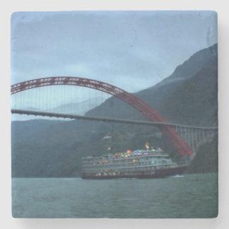 Boots-Brücken-China-Chinese-Fluss Steinuntersetzer