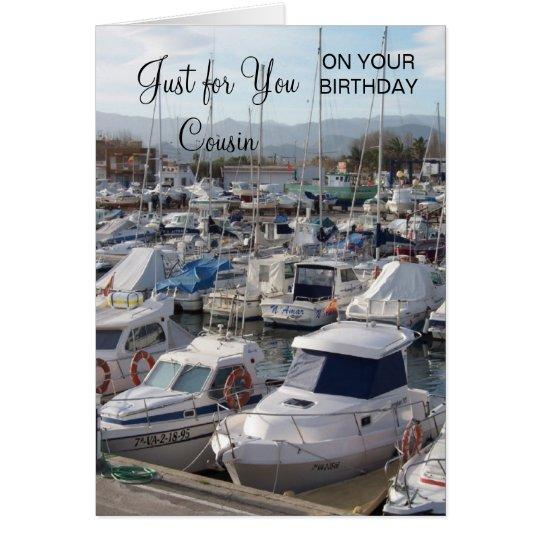 Boots-Cousin-Geburtstag Karte