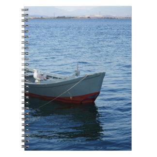 Bootsnotizbuch des blauen Wassers Patriciapotluck Spiral Notizblock