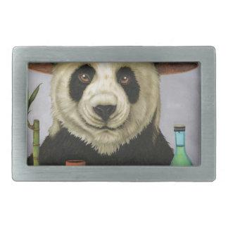 Boozer 4 mit Panda Rechteckige Gürtelschnalle