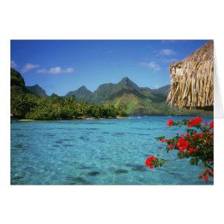 Bora Bora Insel, Französisch-Polynesien Karte