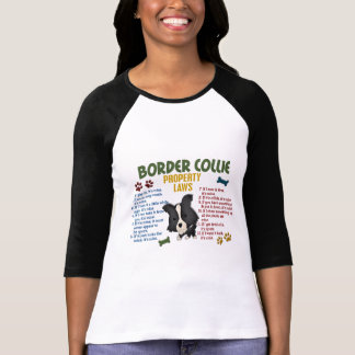 Border-Collie-Eigentums-Gesetze 4 Hemden