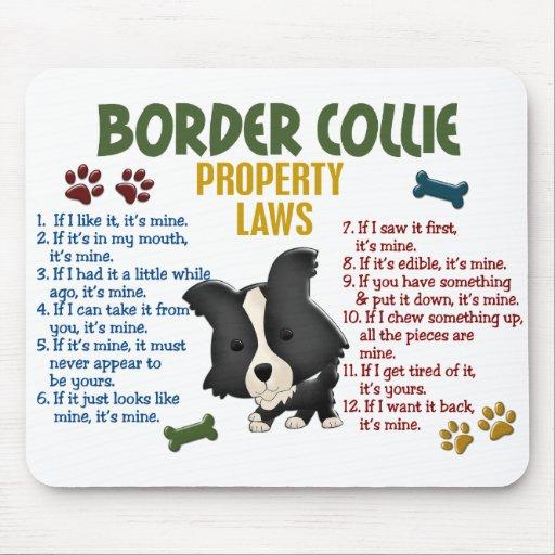 Border-Collie-Eigentums-Gesetze 4 Mauspad