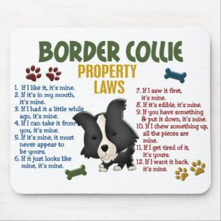 Border-Collie-Eigentums-Gesetze 4 Mousepad