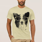 Border Collie glasses Dog hipster T-Shirt