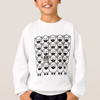 Border-Collie in den Schafen Sweatshirt