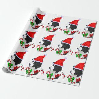 Border-Collie-Weihnachten Geschenkpapier